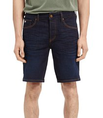 men's scotch & soda ralston stretch denim shorts, size 30 - blue