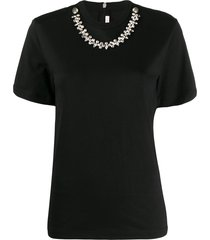 christopher kane crystal-embellished t-shirt - black