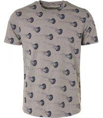 no excess t-shirt crewneck allover printed ya dark grey