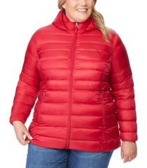 32 degrees plus size packable down hooded puffer coat, created for macy's