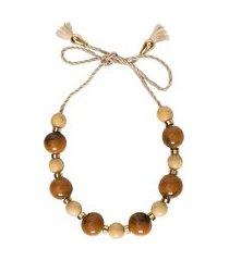colar feminino cinto caramelo - marrom