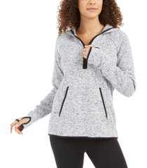 ideology quarter-zip hoodie sweater, created for macy's