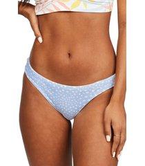 women's billabong tropic jungle reversible lowrider bikini bottoms, size x-large - grey