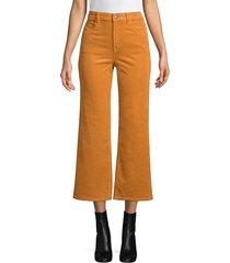 j brand women's joan high-rise cropped flare jeans - titian - size 28 (4-6)