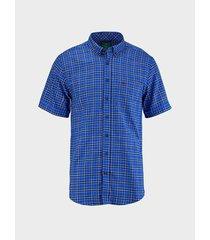 camisa cuadros manga corta para hombre 96971