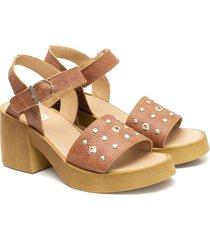 sandalia de cuero suela valentia calzados gina