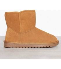 duffy leather warm boots flat boots camel