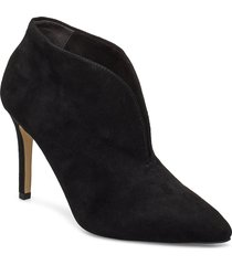 woms slip-on shoes boots ankle boots ankle boots with heel svart tamaris