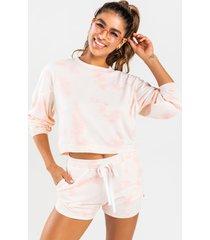 women's aj tie-dye sweatshirt in pink by francesca's - size: l