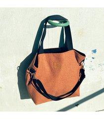 duża torba shopperka mili duo - rudy brąz