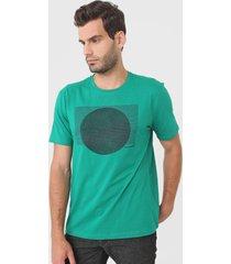 camiseta aleatory listras verde