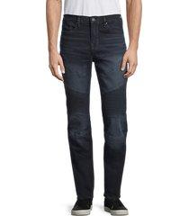 true religion men's moto rocco relaxed skinny jeans - dark miner - size 30