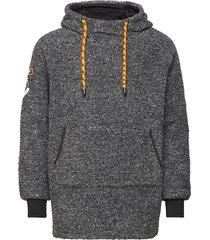 mountain sherpa overhead hoodie trui grijs superdry