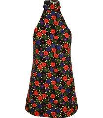 saint laurent retro flower quilted dress