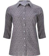 camisa estampada print color blanco, talla 20