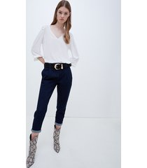 motivi jeans chinos blu scuro donna blu