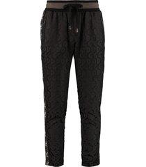 dolce & gabbana track-pants with decorative stripes