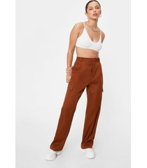 womens forgive but don't pocket twill pants - rustic brown