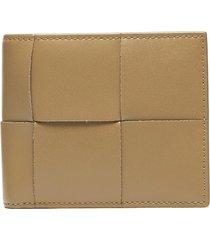 oversize intrecciato leather bifold wallet