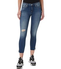 jeans ckj 011 mid rise skinny ankle azul calvin klein
