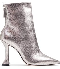 loiva bootie - 9 prata silver metallic leather