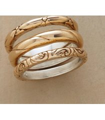 basking in bronze ring trio s/3