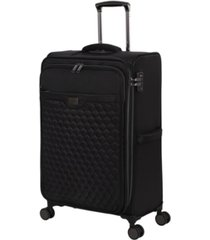 "it girl 28"" spectacular softside semi-expandable spinner suitcase"