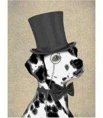 "fab funky dalmatian, formal hound and hat canvas art - 36.5"" x 48"""