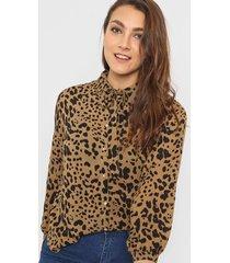 camisa animal print wanama nia
