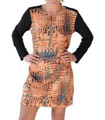 vestido estampado rayas terracota alexandra cid