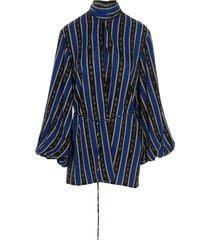 balenciaga backwrap blouse