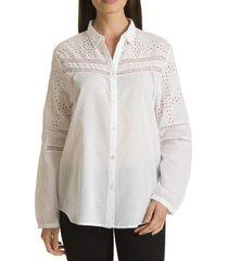 blusa de encaje blanco