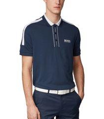 boss men's paddy mk navy polo shirt