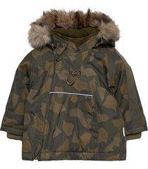 hmljessie jacket parka jacka grön hummel