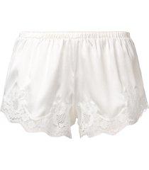 dolce & gabbana lace detail shorts - white