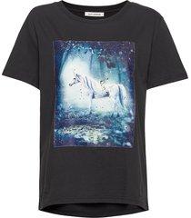 t-shirt t-shirts & tops short-sleeved zwart sofie schnoor