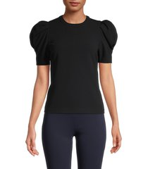 a.l.c. women's west puffed-sleeve top - black - size 0