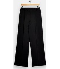 black slouch wide leg pants - black
