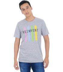 t-shirt cuello redondo gray mix s bocared reegan 1812006