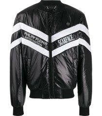 philipp plein bomber scarface jacket - black