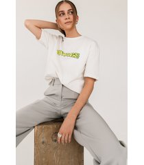 emilie malou x na-kd oversize t-shirt - white