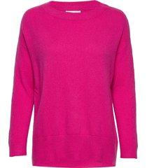 all set sweater stickad tröja rosa odd molly