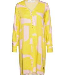 slfcilli-dynella ls short dress dresses everyday dresses geel selected femme