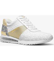 mk sneaker allie extreme in materiale misto - bianco/oro pallido (bianco) - michael kors