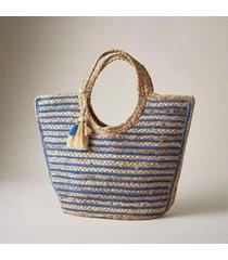 sundance catalog women's sand dunes tote in natural blue