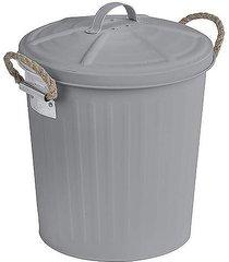 kosz na śmieci metalowy 6 litrów szary