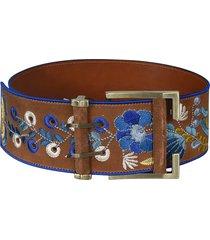 etro floral embroidered belt