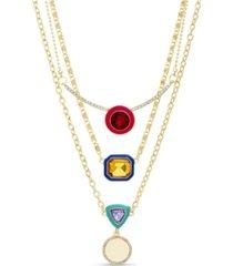 kensie rhinestone layered necklace