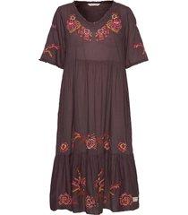 free the flower dress knälång klänning brun odd molly