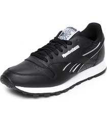 zapatilla cl leather mu negro reebok